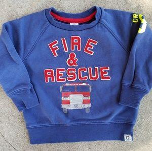 Baby Gap Fire & Rescue Sweatshirt, Sz 18-24 Months